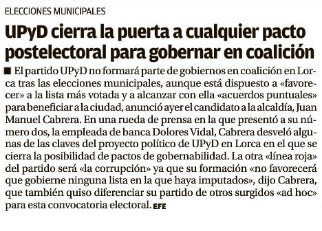 Candidatura UPyD Lorca. LO. 13.03.2015..
