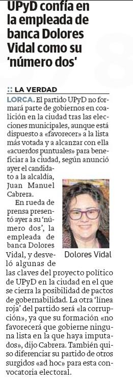 Presentación candidatura UPyD Lorca. LV. 13.03.2015.